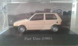 Miniatura Fiat Uno 1983 Inesquecíveis Do Brasil Altaya 1/43