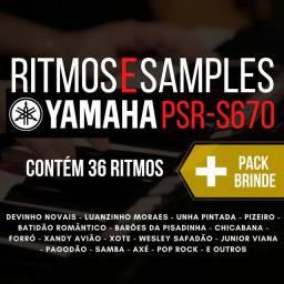 Ritmos e Sample Yamaha PSR S670