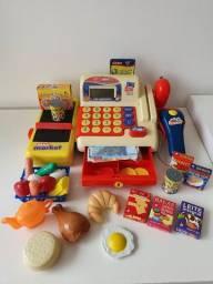 Brinquedo Máquina registradora. Com calculadora de verdade.