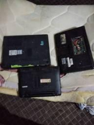 2 notebook velhos e 1 netbook da Asus