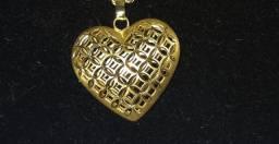 Pingente de coração Grande em ouro 18k