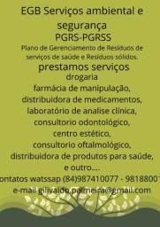 Serviços de PGRSS PCMSO PPRA POP.