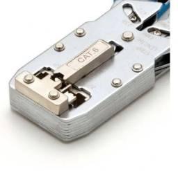 Alicate Crimpar Conector Rede Rj45 Cat5 Cat6 Telefonia Rj11