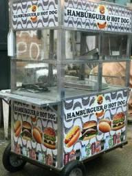 Carroça de cachorro quente e Hambúrguer