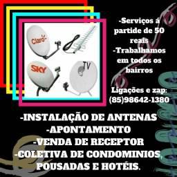 Antenas - Instalação de Antenas - apontamento - Disponível