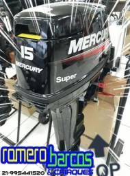 Motor Mercury 15HP Super 18 - Pronta entrega