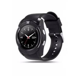 Relógio Smartphone Watch Entrada P/ Chip Celular E Micro Sd Redondo