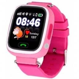 Relogio Smartwatch Infantil Rosa Sos e Gps