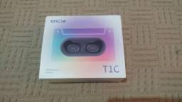 Fone de ouvido Bluetooth QCY T1C TWS preto