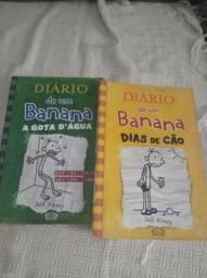 Livros diário de um banana. Dias de cão e A gota d'água.