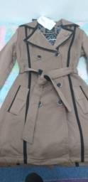 Casaco Trench Coat Feminino
