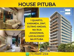 Apartamento na Pituba, House Pituba em 31m² com 1 vaga rotativa - Imperdível