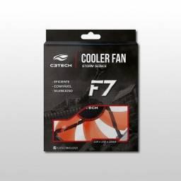 Cooler Fan C3Tech Storm Series F7 Led Vermelho F7-L100RD