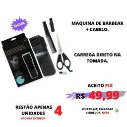 Máquina de barbear + cabelo