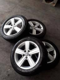Jogo de roda original VW aro 16, 5 furos .