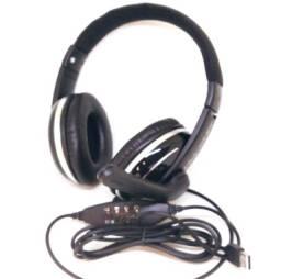 Fone De Ouvido Gamer Pc Usb Headset P2 Kaidi Kd-762 Over Ear
