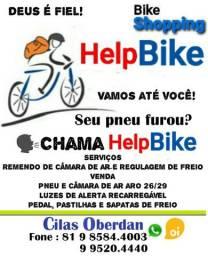 Consertos, vendas de peças e acessórios para bicicleta