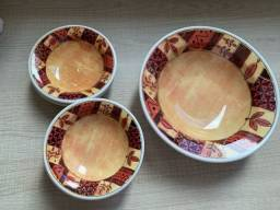 Conjunto de sobremesa em porcelana