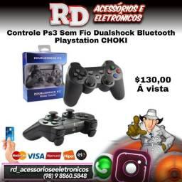 CONTROLE PS3 DOUBLESHOCK SEM FIO RECARREGÁVEL