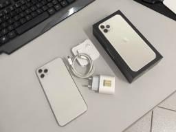 11 Pro Max 64GB, Branco, Perfeito, 12x R$523,00.