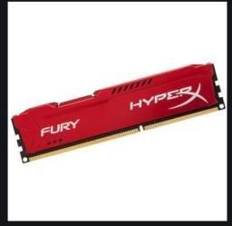 Memória HyperX Fury, 8GB, 1600MHz, DDR3