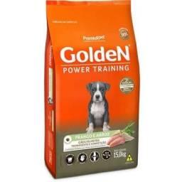 Ração Golden Power Training Cães Filhotes Frango e Arroz - 15 Kg