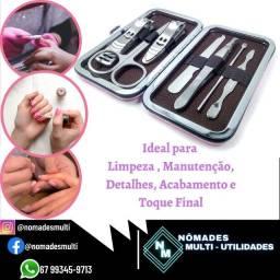 Kit Manicure Pedicure estojo acessórios unhas Portátil Viagem unha Pé e Mão