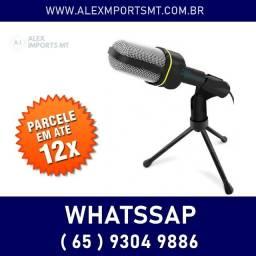 microfone com tripe para youtuber reproduza conteudo de alta qualidade