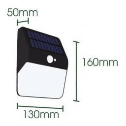 Luminária Solar Arandela 30 LEDs 40w Luz Quente Com Sensor
