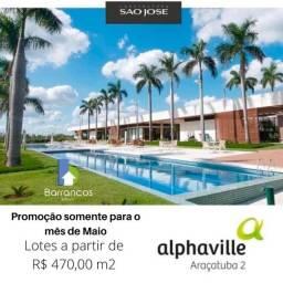 Terreno à venda Condomínio Alphaville 2 Araçatuba-SP
