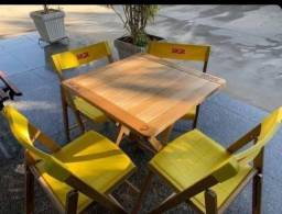 Conjunto de mesa e cadeiras tramontina skol