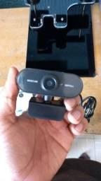 Webcam 1080p câmera web com microfone usb reunião ao vivo jogos