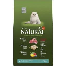 -Ração  Guabi Natural Cordeiro e Aveia para Gatos Adultos Castrados  7,5kg
