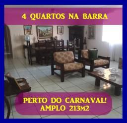 Apartamento de 4 Quartos+ Dependência na Barra em Posição Nascente, excelente localização
