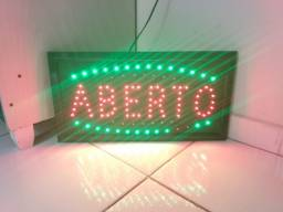 "Placa de Led ""Aberto"""