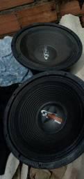 2 auto falantes de 12 de 300 watts