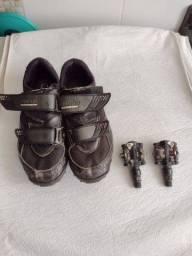 Pedal de clip welgo mais sapatilha Shimano 40