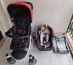 Kit carrinho e bebê conforto travel system base isofix/latch I.M.P.O.R.T.A.D.O!!!!