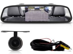 Kit Retrovisor Lcd Com Camera de re + Sensor De Estacionamento