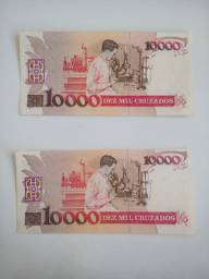 10. mil cruzados (1988) Numinística/ Notas antigas