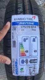 2 pneus novos 175/70/14 primeira linha em 6x de 113,00 já no lugar