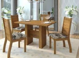 Título do anúncio: Kit mesa + 4 cadeiras para sala de jantar - Vieiro    NOVA pronta entrega