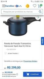 Panela de pressão Tramontina Azul nova 4.5 L