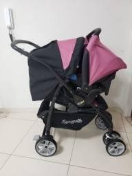 Vendo carrinho Burigotto é bebê conforto para menina