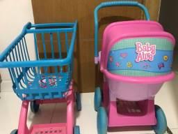 Vendo dois carrinhos da baby Alive!