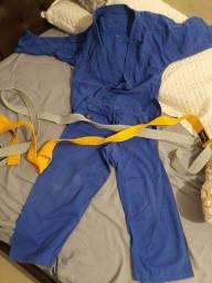 Kimono infantil shiroi azul judo