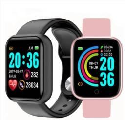 Smart Watch Y68 À Prova D'Água Com Rastreador de Frequência Cardíaca