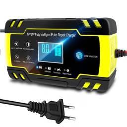 Carregador de Bateria Automotiva 12V-24V 8A Tela LCD