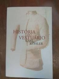 Livro  sobre história do vestuário - moda