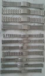 11 pulseiras de metal